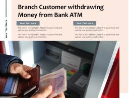 Branch Customer Withdrawing Money From Bank Atm