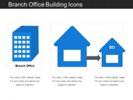 Branch Office Building Icons
