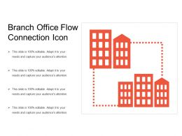 Branch Office Flow Connection Icon