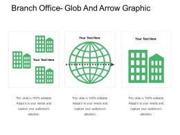 Branch Office Glob And Arrow Graphic