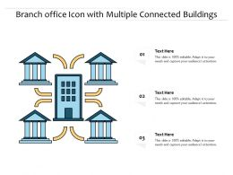Branch Office Icon With Multiple Connected Buildings