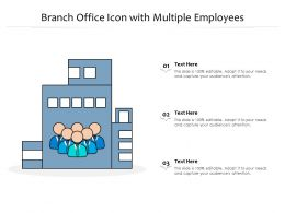 Branch Office Icon With Multiple Employees