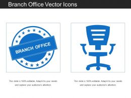 Branch Office Vector Icons