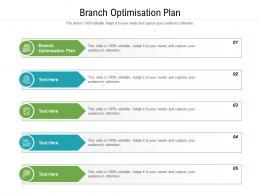 Branch Optimisation Plan Ppt Powerpoint Presentation Ideas Model Cpb