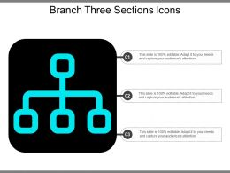 Branch Three Sections Icons