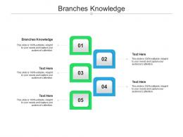 Branches Knowledge Ppt Powerpoint Presentation Summary Diagrams Cpb