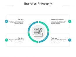 Branches Philosophy Ppt Powerpoint Presentation Gallery Aids Cpb