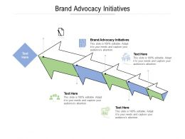 Brand Advocacy Initiatives Ppt Powerpoint Presentation Inspiration Picture Cpb