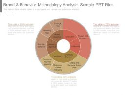 Brand And Behavior Methodology Analysis Sample Ppt Files