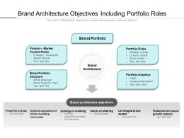Brand Architecture Objectives Including Portfolio Roles