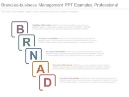 Brand As Business Management Ppt Examples Professional