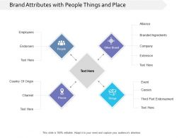 Brand Attributes With People Things And Place
