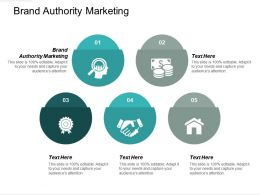 Brand Authority Marketing Ppt Powerpoint Presentation Model Maker Cpb