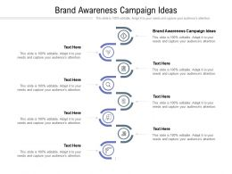 Brand Awareness Campaign Ideas Ppt Powerpoint Presentation Portfolio Clipart Cpb