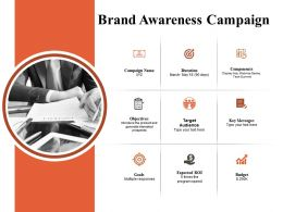 Brand Awareness Campaign Powerpoint Slide Presentation Tips