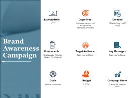 Brand Awareness Campaign Ppt Icon