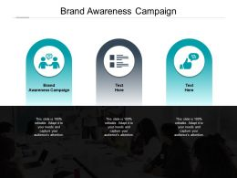 Brand Awareness Campaign Ppt Powerpoint Presentation Infographic Cpb