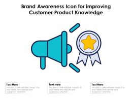 Brand Awareness Icon For Improving Customer Product Knowledge