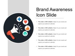 Brand Awareness Icon Slide