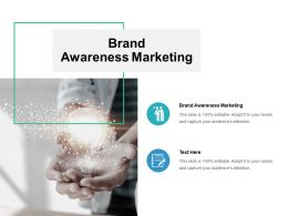 Brand Awareness Marketing Ppt Powerpoint Presentation Summary Infographic Template Cpb