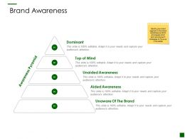 Brand Awareness Pyramid Ppt Powerpoint Presentation File Formats