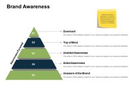 Brand Awareness Pyramid Ppt Powerpoint Presentation Model Portfolio