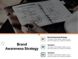 Brand Awareness Strategy Ppt Powerpoint Presentation Ideas Outline Cpb