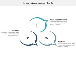 Brand Awareness Tools Ppt Powerpoint Presentation Slides Introduction Cpb
