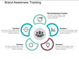 Brand Awareness Tracking Ppt Powerpoint Presentation Gallery Introduction Cpb