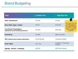 Brand Budgeting Powerpoint Slide Background Picture