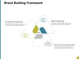 Brand Building Framework Ppt Powerpoint Presentation Designs