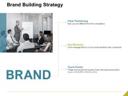 Brand Building Strategy Ppt Powerpoint Presentation Model