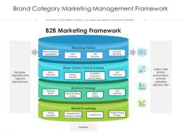 Brand Category Marketing Management Framework