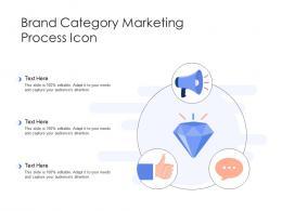 Brand Category Marketing Process Icon