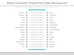 Brand Character Powerpoint Slide Background