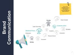 Brand Communication Convenient Ppt Powerpoint Presentation Samples