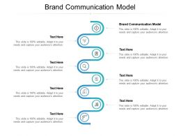 Brand Communication Model Ppt Powerpoint Presentation Gallery Outline Cpb
