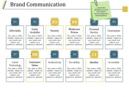 Brand Communication Powerpoint Shapes