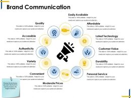 brand communication ppt background