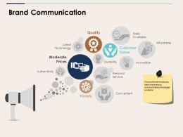 Brand Communication Ppt Backgrounds