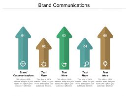Brand Communications Ppt Powerpoint Presentation Pictures Ideas Cpb