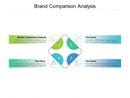 Brand Comparison Analysis Ppt Powerpoint Presentation Summary Show Cpb