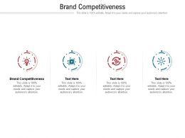 Brand Competitiveness Ppt Powerpoint Presentation Portfolio Influencers Cpb