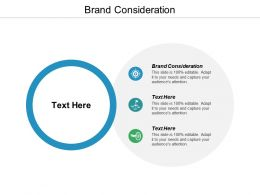 Brand Consideration Ppt Powerpoint Presentation Ideas Infographics Cpb
