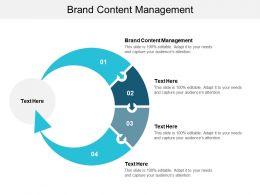 Brand Content Management Ppt Powerpoint Presentation Styles Slideshow Cpb