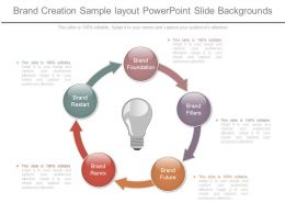 Brand Creation Sample Layout Powerpoint Slide Backgrounds