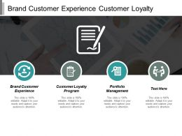 Brand Customer Experience Customer Loyalty Program Portfolio Management Cpb