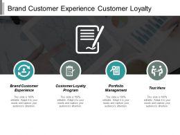 Brand Customer Experience Customer Loyalty Program Portfolio Management Cpb