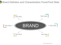 Brand Definition And Characteristics Powerpoint Slide