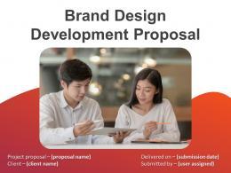 Brand Design Development Proposal Powerpoint Presentation Slides